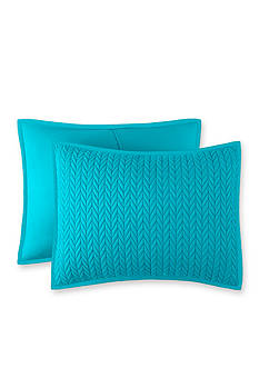 J by J Queen New York Camden Turquoise King Quilted Sham