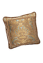 Dresser Light Khaki Damask Square Decorative Pillow 18-in. x 18-in.