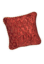 Minton Rust Velvet Decorative Pillow 16-in. x 16-in.