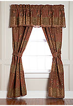 Minton Toast Drapery Panels 82-in. x 84-in. with 2 Tiebacks