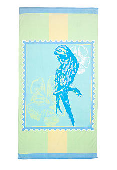Ocean & Coast Parrot Stamp Beach Towel