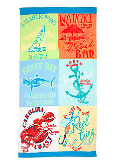 Ocean & Coast Patchwork Logo Beach Towel