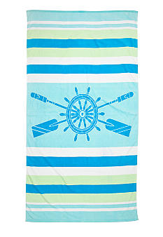 Ocean & Coast Ship's Wheel Beach Towel