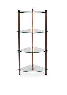 Creative Bath 4-Shelf Oil Rubbed Bronze Corner Tower