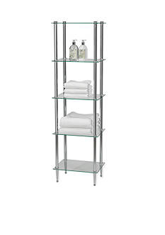 Creative Bath Classic Chrome 5-Shelf Tower