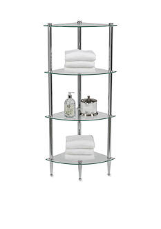 Creative Bath 4-Shelf Chrome Corner Tower