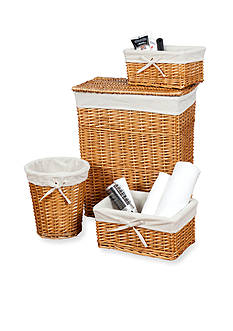 Creative Bath Honey 4-Piece Wickerworks Hamper and Storage Set