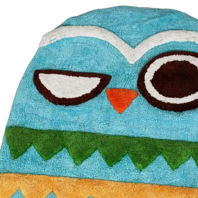 Decorative Bath Towels: Multi Creative Bath GIVE A HOOT PRINT HA