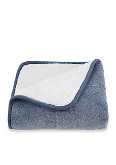 Southern Tide Chambray Sherpa Throw