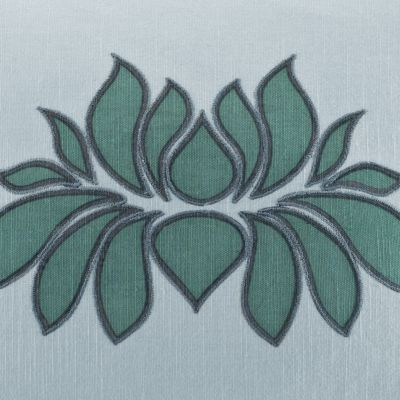 Decorative Pillows: Mineral Blue Under the Canopy Lotus Decorative Pillow
