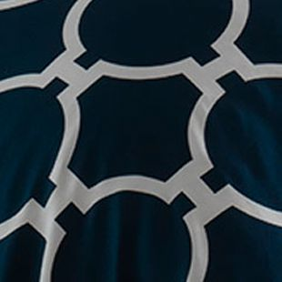 Teen Bedding: Navy Jill Rosenwald Hampton Links Twin Comforter Set