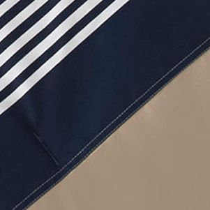 Designer Bedding: Dress Navy IZOD CLASSIC STRIPE QUEEN CSET