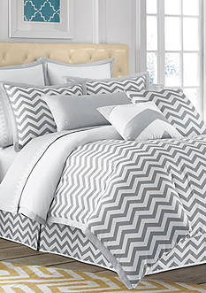 Jill Rosenwald Buckley Grey Chevron Duvet Collection - Online Only<br>