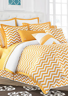 Jill Rosenwald Buckley Butter Chevron Duvet Collection - Online Only<br>