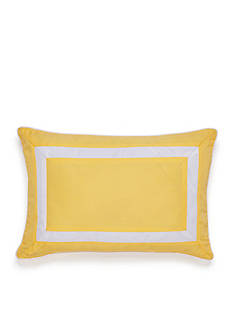 Southern Tide Savannah Yellow Framed Pillow