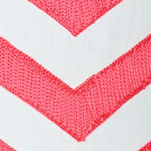 Casual Bedding: Pink Jill Rosenwald JR MULTI PATCH CHEVRON 18 X 18 DEC