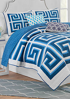 Jill Rosenwald JR GREEK KEY TWIN QUILT