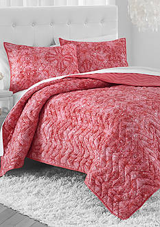 Amy Sia AMY SIA ARCADIA MCRFBR TWIN QUILT CORAL