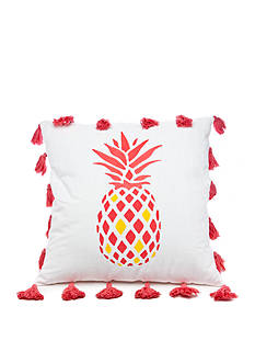 Southern Tide COASTAL IKAT 20' POM PINAPPLE PILLOW