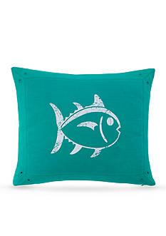 Southern Tide PREP SCHOOL PL DEC PILLOW GREEN SKIPJACK 14X18