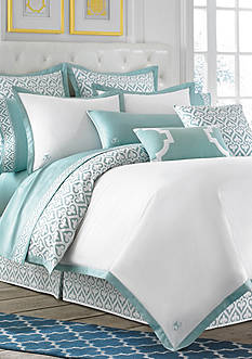 Jill Rosenwald Newport Gate Slate Duvet Bedding Collection - Online Only