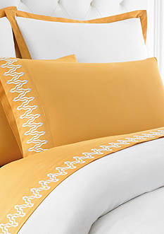 Jill Rosenwald Plimpton Flame Sheet Set - Online Only