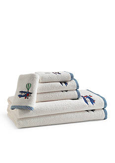 Kassatex BAMBINI IN FLIGHT EMBROIDERED TIP TOWEL