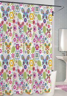 Kassatex Bambini Butterflies Shower Curtain - Online Only