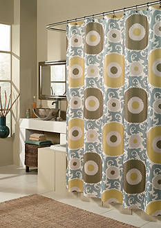 m.style Ottoman Blossom Gold Shower Curtain - Online Only