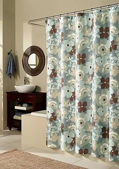 m.style Pop Art Garden Blue Shower Curtain - Online Only