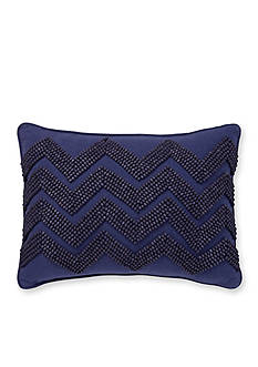 Tommy Hilfiger Beaded Chevron Decorative Pillow