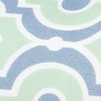 Low Thread Count Sheets: Moroccan Tile Blue Home Accents MF PRINT KING