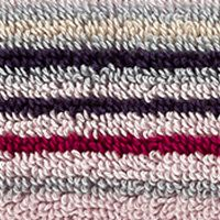 Luxury Bath Towels: Stripe Berry Christy Supreme Stripe Washcloth 13-in.x 13-in.