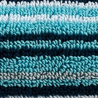 Decorative Bath Towels: Stripe Aqua Christy Supreme Stripe Washcloth 13-in.x 13-in.