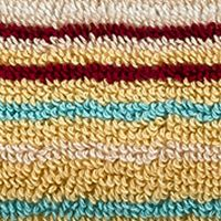 Decorative Bath Towels: Stripe Spice Christy Supreme Stripe Washcloth 13-in.x 13-in.