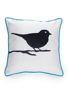 New Directions Taylor Square Embroidered Bird Decorative Pillow