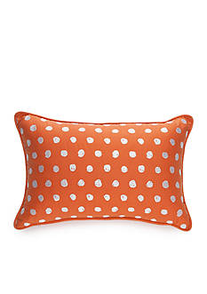 New Directions Wyatt Embroidered Scribble Dot Decorative Pillow