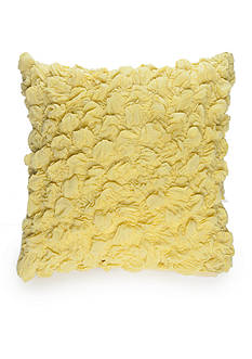 New Directions Logan Square Chartreuse Textured Decorative Pillow