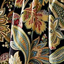 Designer Bedding: Black Biltmore BOULLE SQUARE 2 EMBROIDERY 16