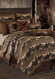 HiEnd Accents BRIARCLIFF KING COMFORTER SET DS