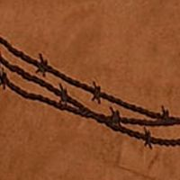 Bed & Bath: Solid Sale: Tan HiEnd Accents BARBWIRE FAUX LTHR CURTAIN