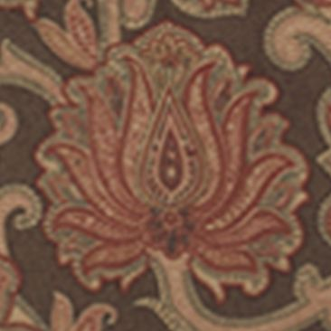 Elegant Bedding: Rust HiEnd Accents AUSTIN EURO SHAM SCROLL MEDALLION DS