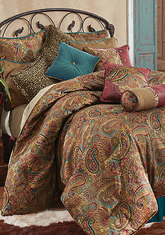 HiEnd Accents SAN ANGELO QUEEN CSET PAISLEY JACQUARD