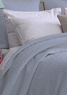 bluebellgray FERN SOLID COVERLET KING SHAM ARTIC