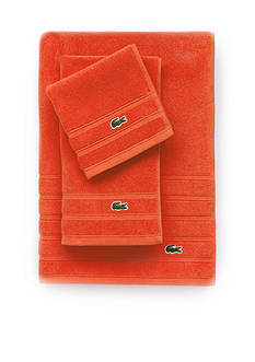 Lacoste Croc Orange Hand Towel