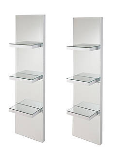 Southern Enterprises Helen Mirrored Wall Shelf
