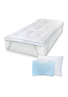 MemoryLOFT SENSORPEDIC GEL INFUSED MEMORY LOFT DELUXE TOPPER WITH MATCHING MEMORYLOFT WITH GEL BONUS PILLOW