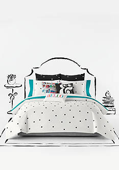 kate spade new york DECO DOT WHITE TWIN CSET