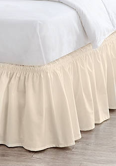 Home Accents Queen/King Linen Ruffle Bedskirt with Dual Fit Technology