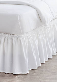 Home Accents Queen/King White Ruffle Bedskirt with Dual Fit Technology